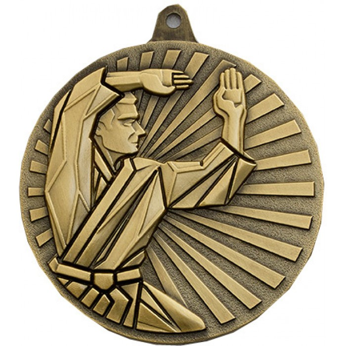 60MM KICKBOXING MEDAL - AVAILABLE IN GOLD, SILVER, BRONZE